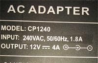 watt rating sample