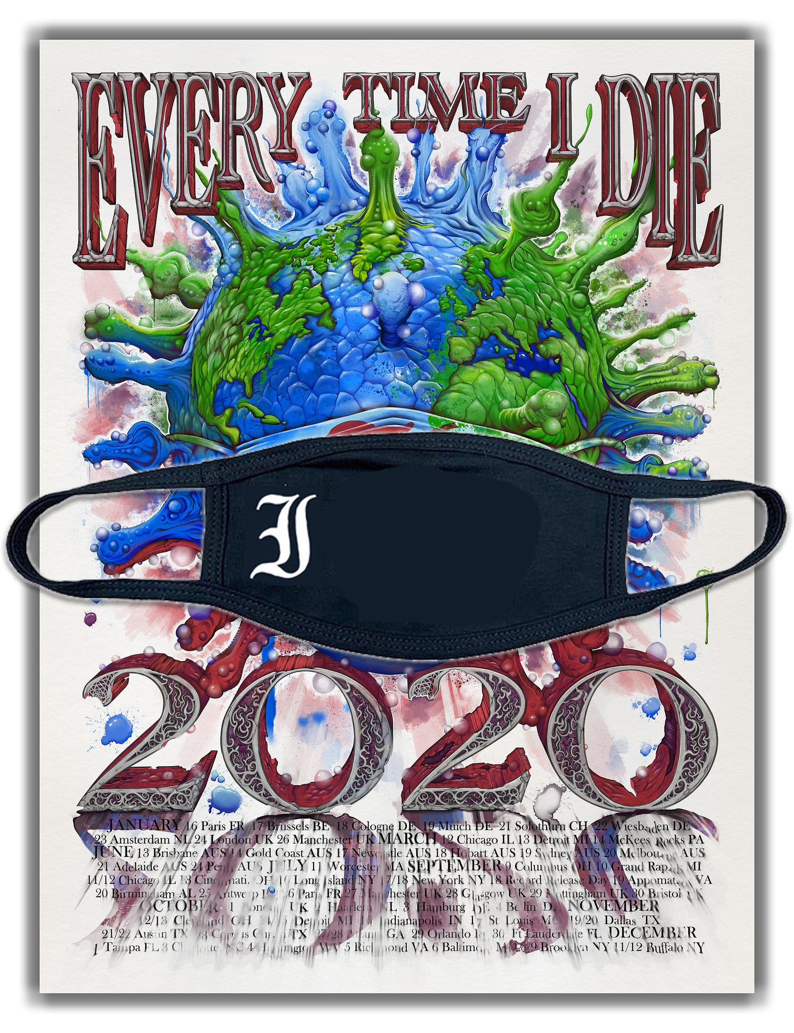 EVERY TIME I DIE 2020 World Tour bundle