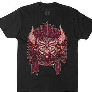 Party Owl Night 3.0 (black tee)