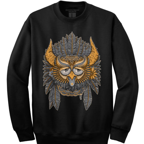 Party Owl Night 3.0 (black crew neck)