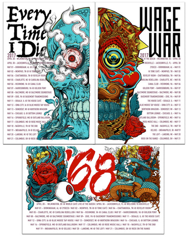 ETID - Winter 2018 North American Tour Poster (NJA Variant)