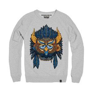 PartyOwl Night 2.0 Crew Neck (grey crew neck)