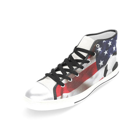 Women US Soccer Team High Top Canvas Shoes