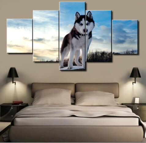 5 Panel Husky World Canvas