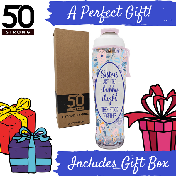 Sister water bottle includes a gift box and makes the perfect gift