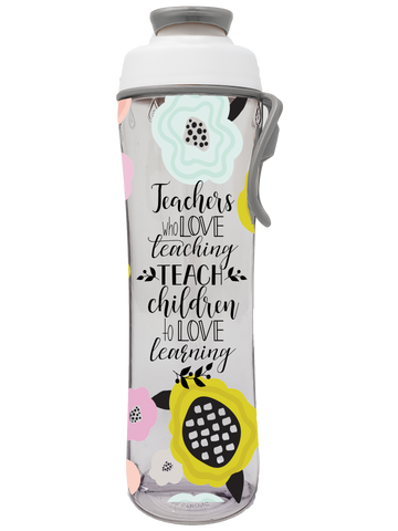 Teachers Who Love Teaching Teacher Water Bottle - 24 oz. - 50 Strong