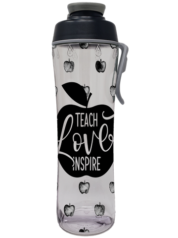 Teach Love Inspire Teacher Water Bottle - 24 oz. - 50 Strong