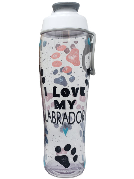 Custom Dog Love - 30 oz. Personalized Water Bottle - Customized with Name or Initial - 50 Strong