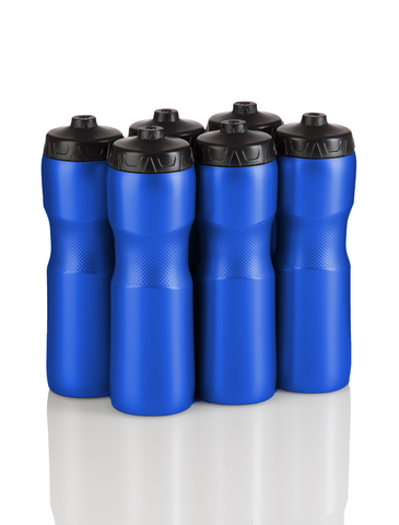 Squirt Water Bottle with One-Way Valve  - 6 Pack (Blue) - 50 Strong