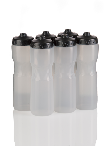 Squirt Water Bottle with One-Way Valve - 6 Pack (Clear) - 50 Strong