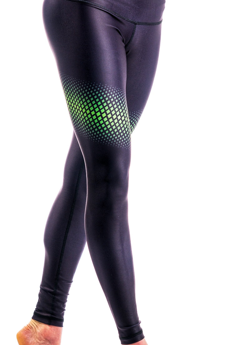 Visionary Legging - Midnight/Cosmic Green