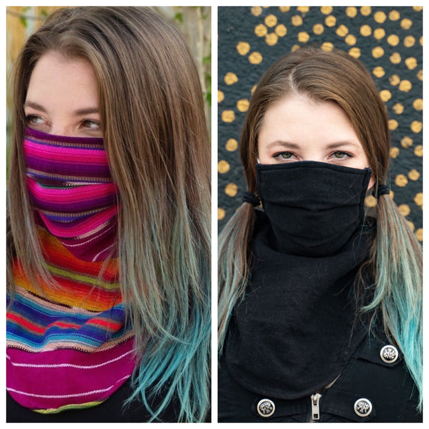 Scarf Mask 2 Pack (Adult), Night in Antigua/Ninja