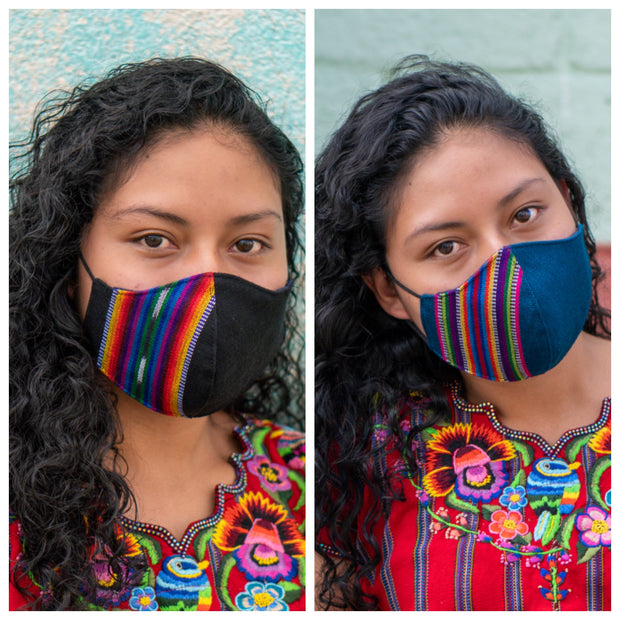 Fitted Mask 2 Pack, Arco Iris