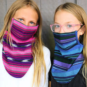 Kids Scarf Mask 2 Pack, Superstar/Berry Happy