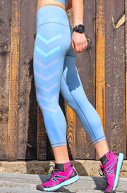 New Direction Nirvana 3/4 Legging, Sage