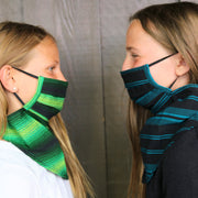 Kids Scarf Mask 2 Pack, Jade/Skyline