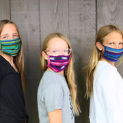 Kids Pleated Mask 4 Pack, Jewel Tones