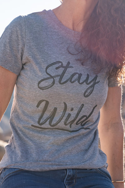 Stay Wild Favorite Tee, Heather Gray