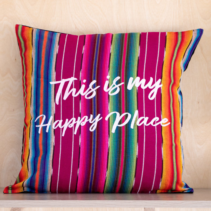 Happy Place Pillow Cover