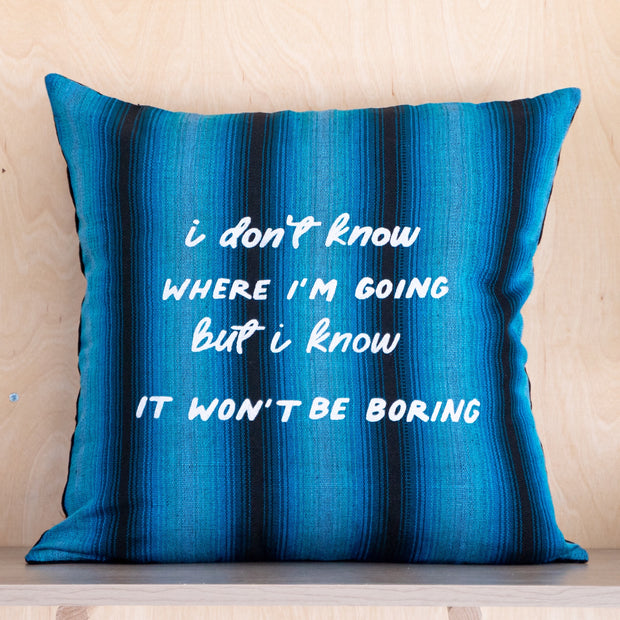 Where I'm Going Pillow Cover
