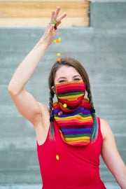Rainbows and Sunshine (Scarf Mask)