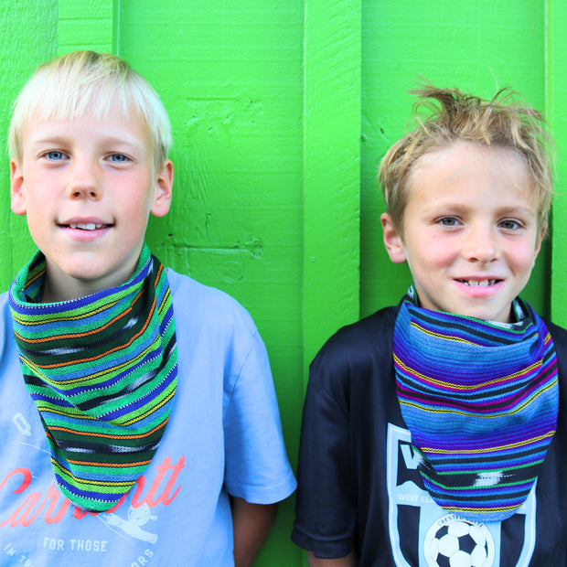 Kids Scarf Mask 2 Pack, Green Machine/Twilight