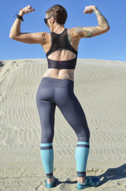 Serena Core Legging - Slate/Mint