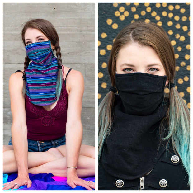 Scarf Mask 2 Pack (Adult), Tide Pool/Ninja