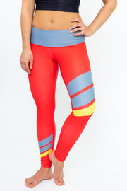 Earn Your Stripes Legging - Cayenne
