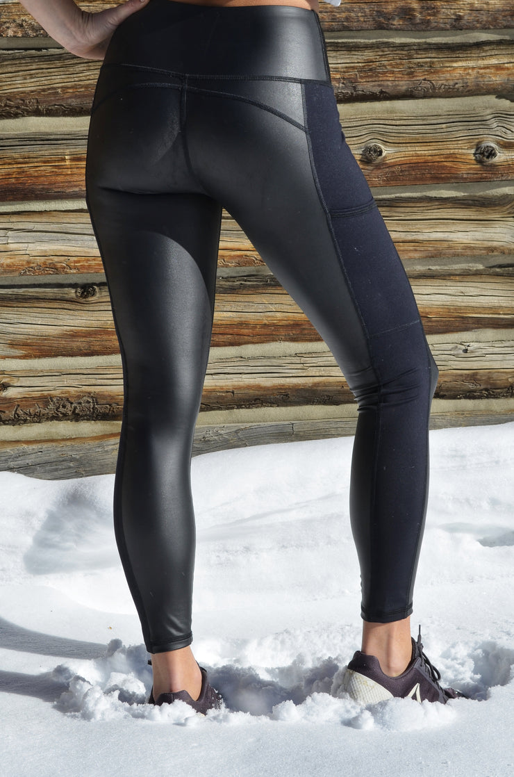 "Attitude Legging - Black ""Leather""/Black"