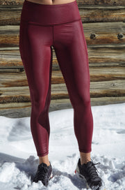 Attitude Liquid Pocket Legging, Cranberry