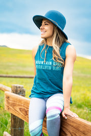 Mountain Girl Open Back Tee - Dark Storm