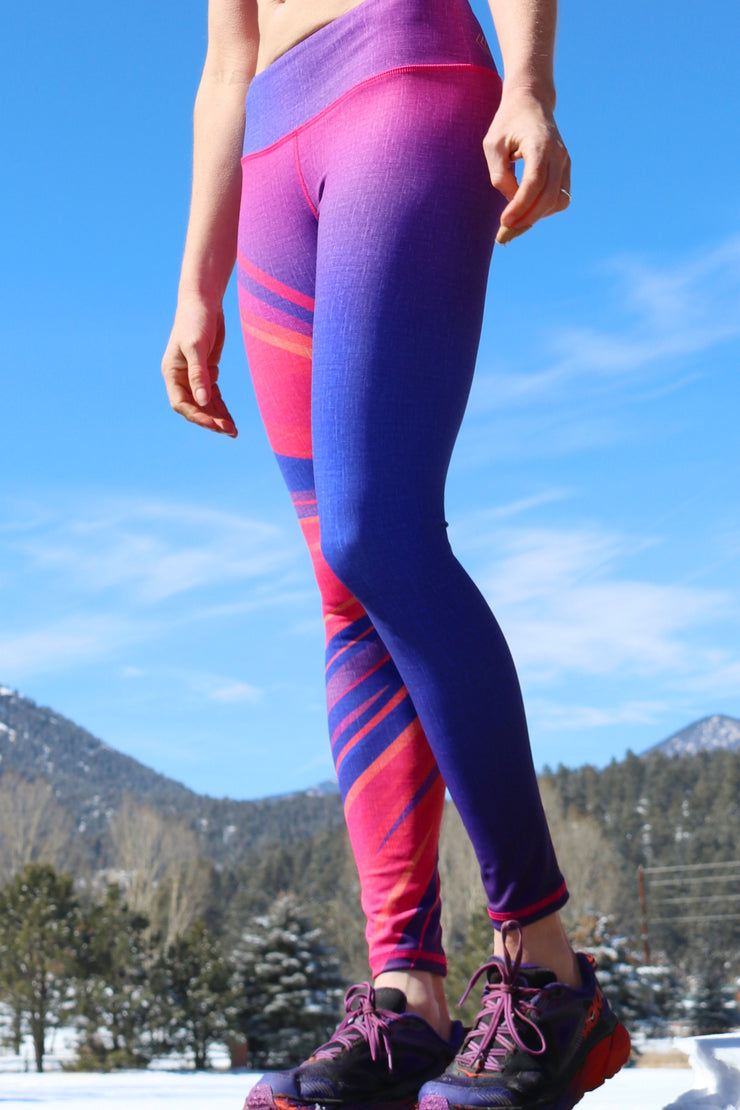 Rise and Shine Core Legging - Twilight