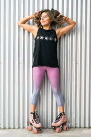 Seeing Stars Open Back Tee - Black