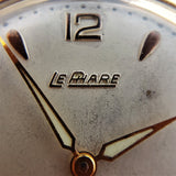 Macro Shot of Vintage Le Phare Mens Oversize Watch from 1950s