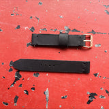 Black on Black Handmade Leather Watch Strap 18mm