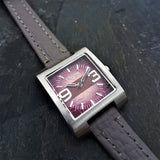 Womens Vintage Fossil Watch with Grey Leather Strap