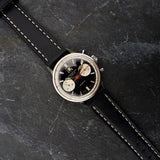 Mens Panda Dial Chronograph Watch with Premium Leather Straps