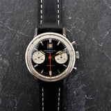 Mens Reverse Panda Chronograph Watch with Date Window