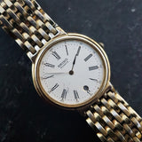Vintage Seiko Watch, Classic Mens Gold Plated Watch Ref 6040-5Y39 - Made in 1989