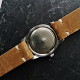 Dust Cap on Vintage Zenith Mens Watch with Cal 106-6 Handwinding Movement