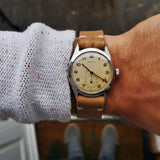 Vintage Zenith Mens Watch with Cal 106-6 Handwinding Movement and Lovely Patina