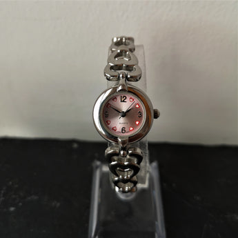 Womens Pink Heart Vintage Watch