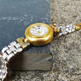 Vintage Women's Cocktail Worthington Gold And Silver Watch With Reversible Bracelet