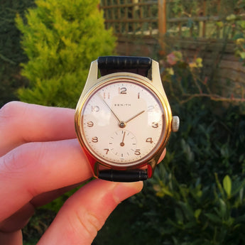 Vintage Zenith 1954 Gold Plated Mechanical Watch