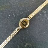 Vintage Women's Digital LCD Gold Watch - By Camelot