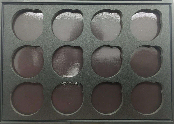 Empty FM 12 Glitter Eyeshadow Magnetic Palette - FM Cosmetics London - 1