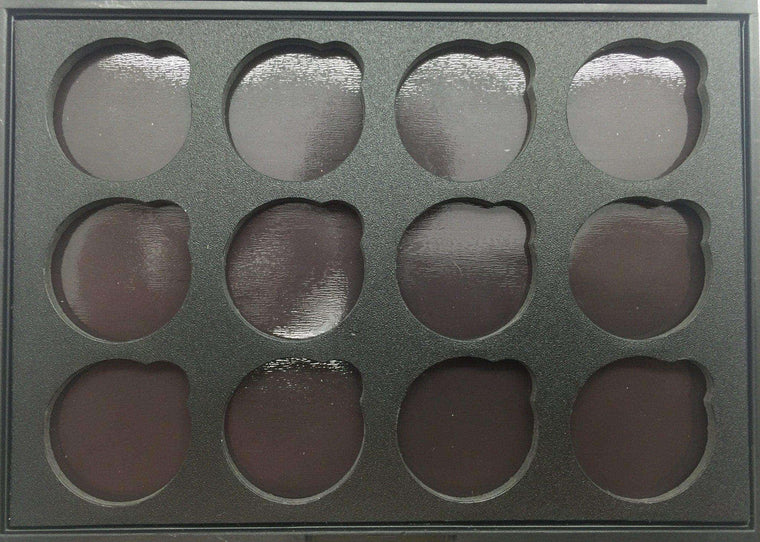 Empty FM 12 Glitter Eyeshadow Magnetic Palette-Pressed Glitter Eyeshadow-Immensus Cosmetics