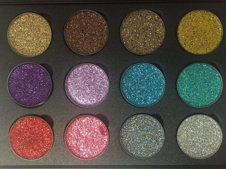 FM Treasure Palette 12A-Pressed Glitter Eyeshadow-Immensus Cosmetics