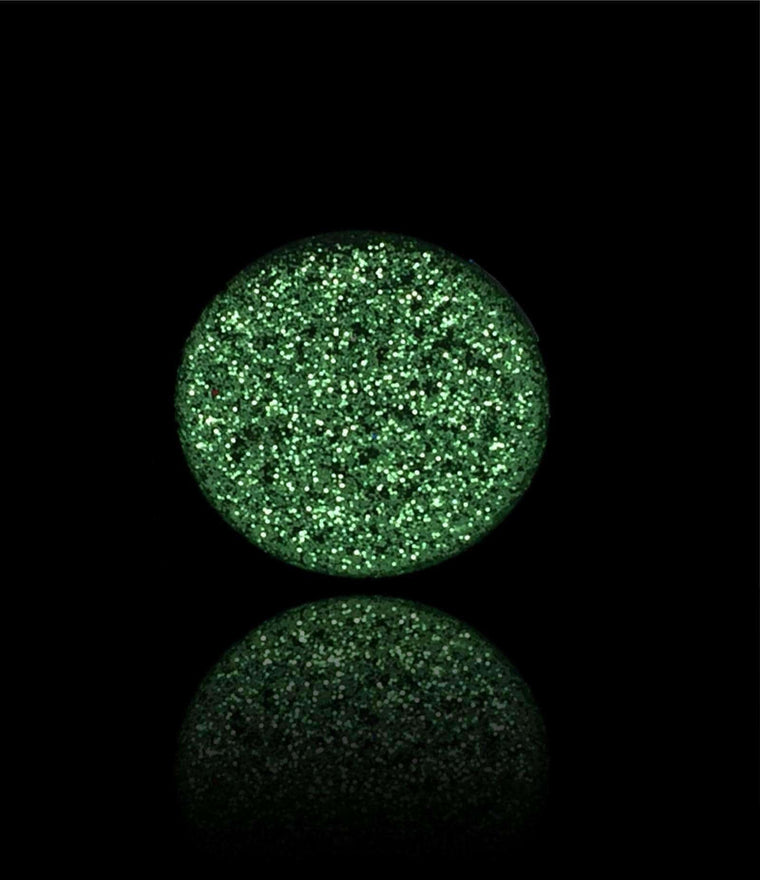 Jade Green-Pressed Glitter Eyeshadow-Immensus Cosmetics